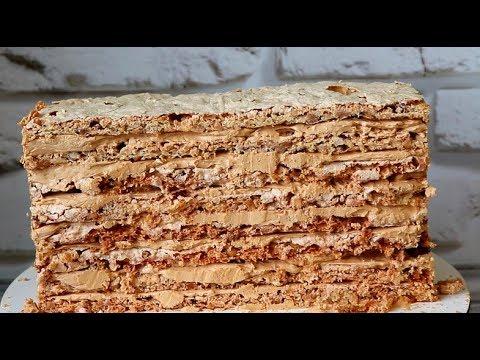 Безумно-вкусно:  безейно-ореховые коржи! Рецепт: коржи для Киевского торта