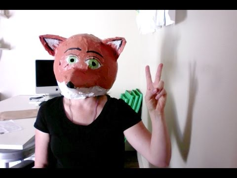 How To Make Paper Mache Fox Mask Head
