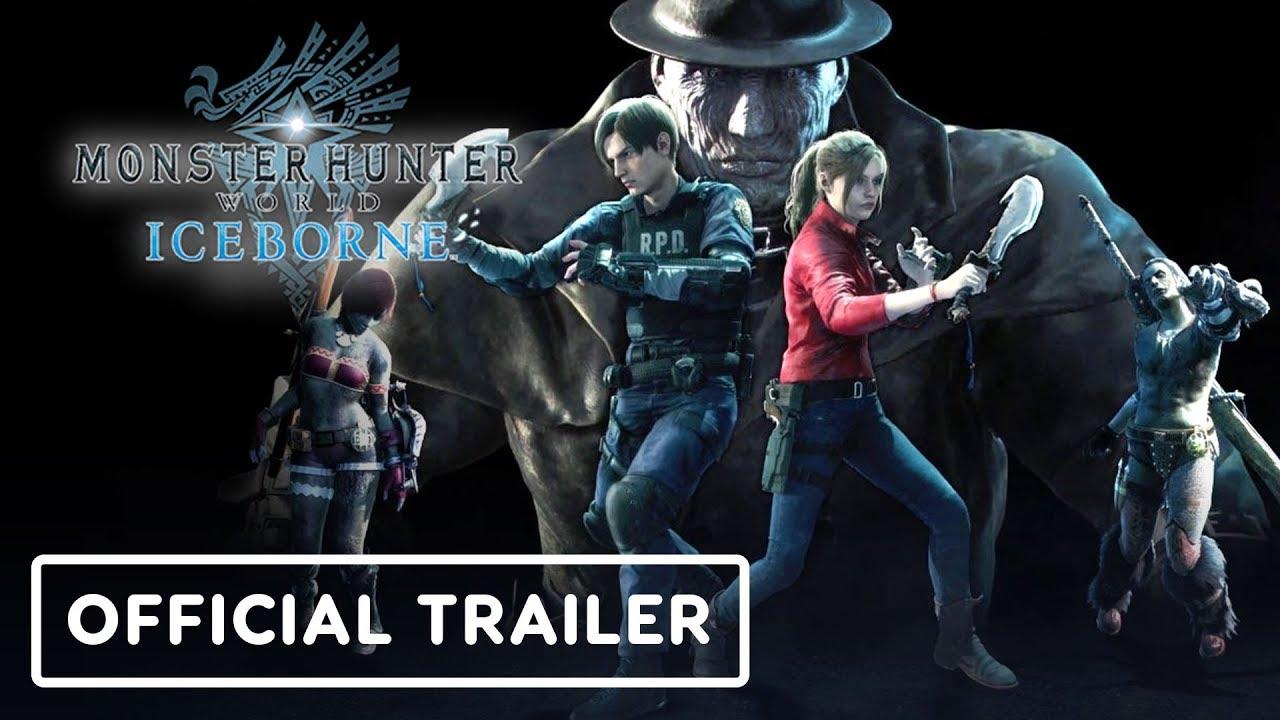 Monster Hunter World: Iceborne - Official Leon & Claire Trailer (Resident Evil) thumbnail