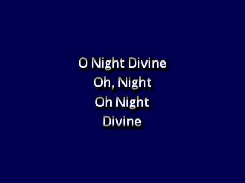 Christmas song O Holy Night karaoke