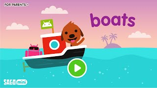 Sago Mini Boats Cartoon Games For Kids Education Apps For Kids