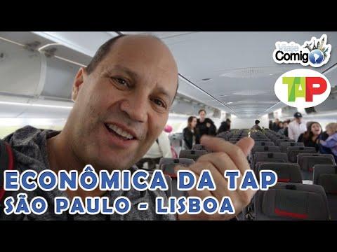 VOANDO DE SÃO PAULO PARA LISBOA DE TAP AIR PORTUGAL | VLOG VIAJE COMIGO