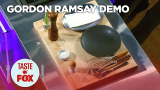 Gordon Ramsay Demonstrates How To Prepare The Perfect Poached Egg | TASTE OF FOX