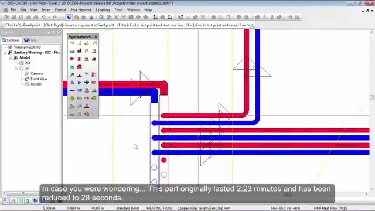 Dds Cad Plumbing Heating Pipe System Calculation Youtube Piping Layout Considerations
