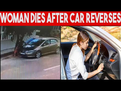 Bangalore Lady crashes on tree, due to car reversing, dies! Shocking, Car Awareness for Deaf.