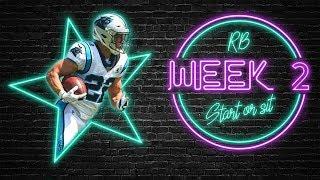 2019 Fantasy Football - Week 2 Running Back Start or Sit