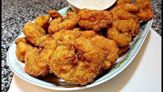Easy Crunchy Fried Shrimp Recipe | Easy Homemade Tartar Sauce Recipe