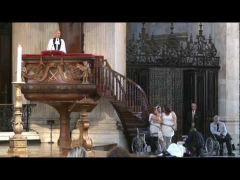 Sermon on Occupy London by the Dean of St Paul's Cathedral (inc. protest action)