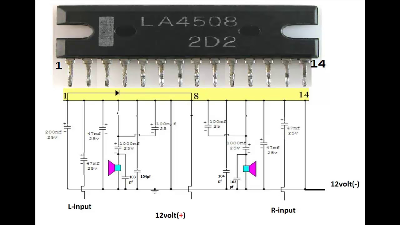 Circuit Diagram Of La4508 Amplifier M Audio Bx5a How To Make Simple Use Ic Como Fazer O