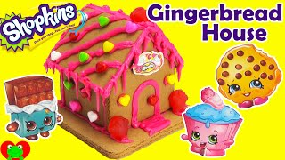 Shopkins Gingerbread House Kit Sweets Shop with Kooky Cookie and More