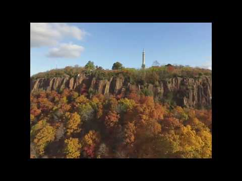 East Rock park by drone