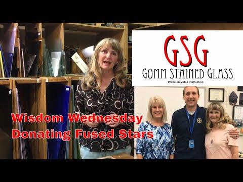 Wisdom Wednesday Fused Glass Art Donation To A High School