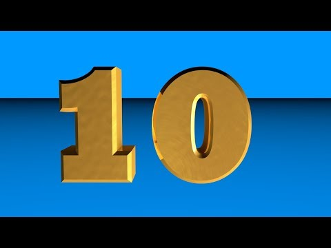 Countdown 10 to 0 ver9 | Learn numbers 0 to 10 for Kids 3D