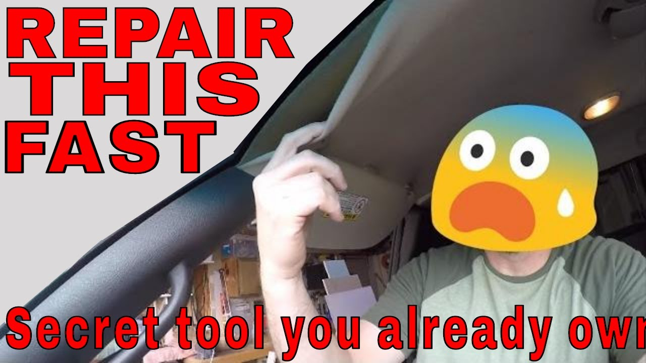 How To Fix Sagging Headliner Without Removing In Less Than