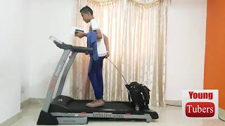 Running on treadmill with bag - Funny video