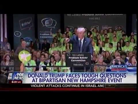 Donald Trump Faces Tough Questions At Bipartisan New Hampshire Event - America's Newsroom