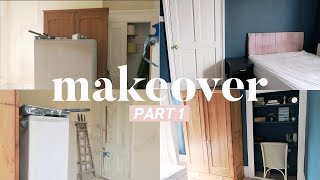 Extreme Guest Bedroom Makeover on a Budget (part 1) Home Renovation 2019