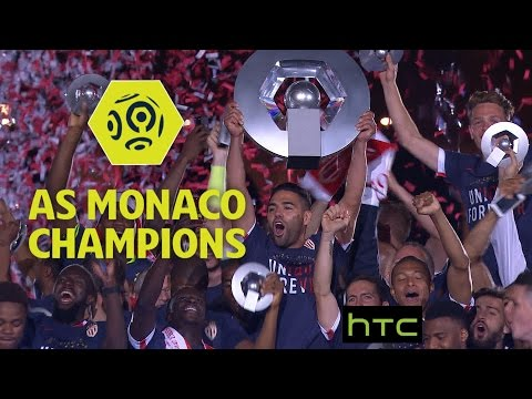 Revivez la remise du trophée aux joueurs de l 'AS Monaco / 31ème journée de Ligue 1 / 2016-17