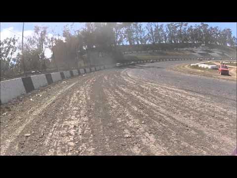 WSDCA & CDCRA Dwarf Car National's Pro Main Event Santa Maria Speedway. April 27, 2014 HD