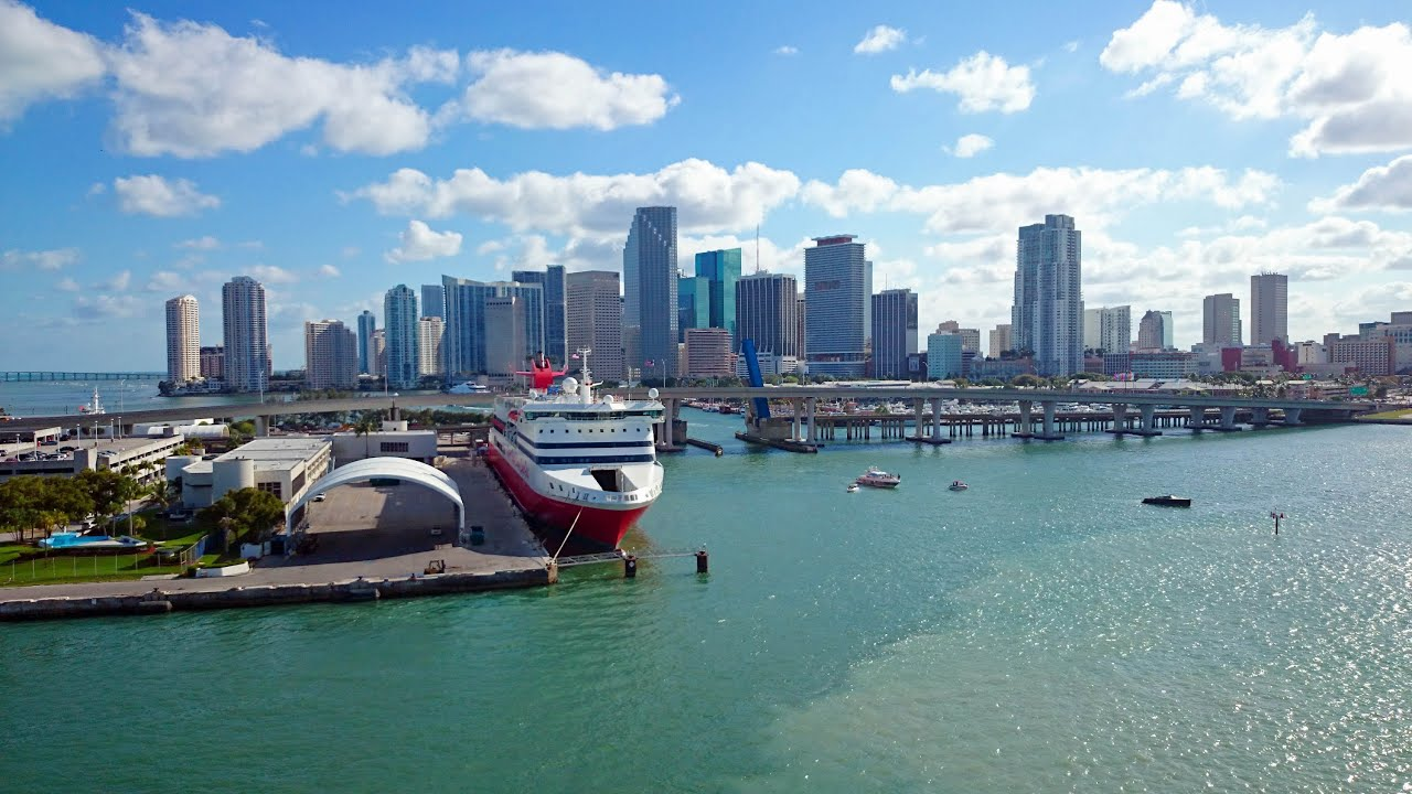 Miami Some View From The Cruise Ship HD YouTube - Miami cruise
