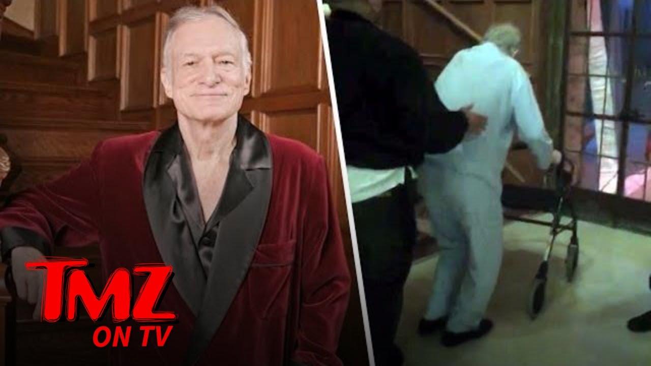 Photos Show Hugh Hefner In Frail Health Months Before Death Tmz Tv Youtube