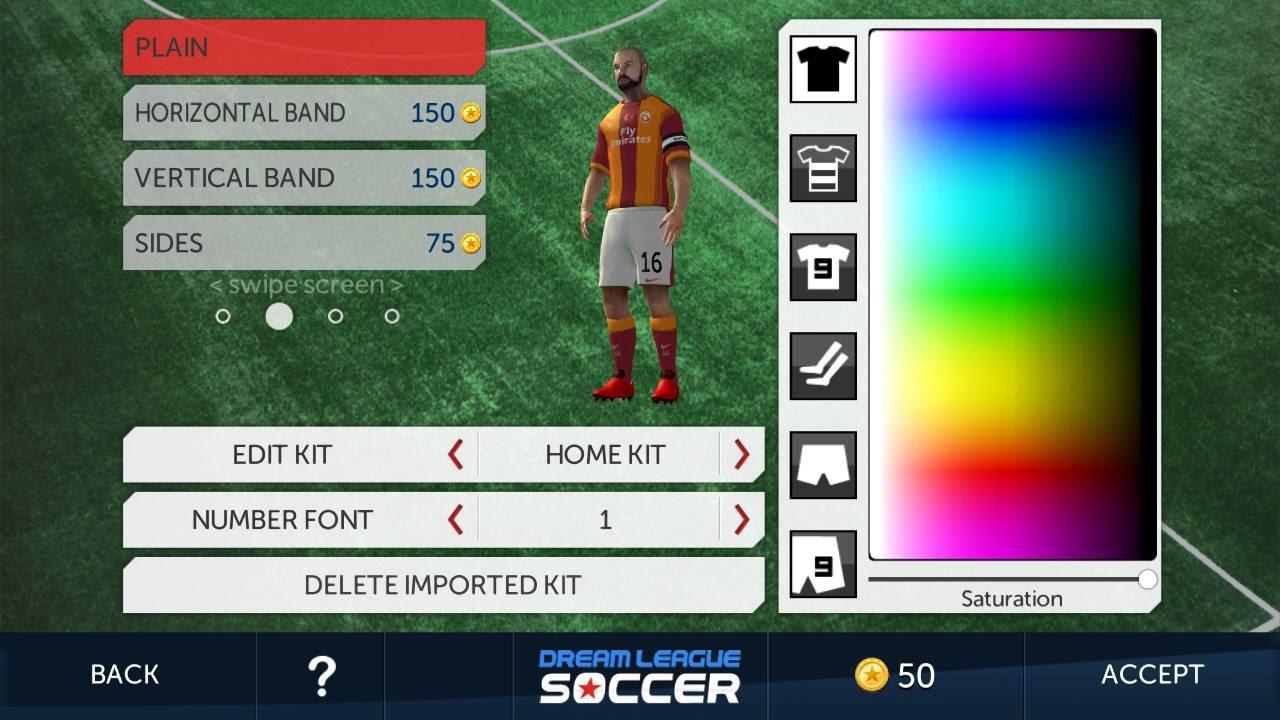 Dream league soccer galatasaray k t forma yapma youtube