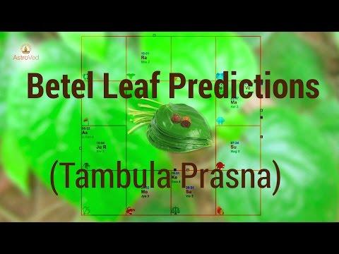 Betel Leaf Reading - Tambula Prasna - Esoteric Predictions