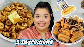 Testing Viral 3-Ingredient Recipes! Mini Pancakes, Churros + More!