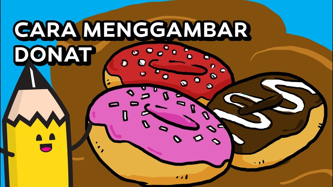 Cara Menggambar Donat How To Draw A Doughnutsdonuts Youtube