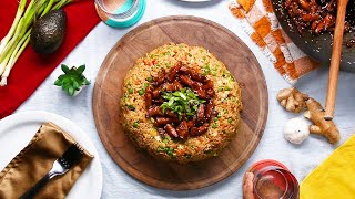 Teriyaki Chicken Fried Rice Dome