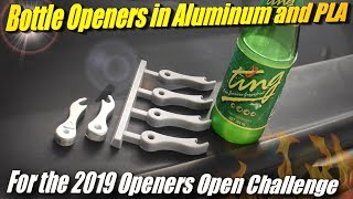 Casting an Aluminum Bottle Opener from 3D Printed Patterns for the 2019 Openers Open
