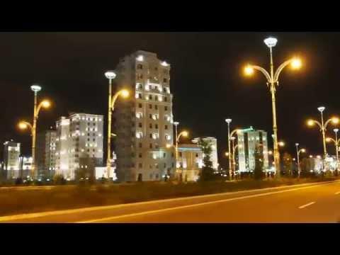 Ashgabat by night, Turkmenistan