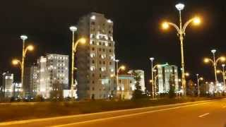 Ashgabat by night, Turkmenistan(Endless numbers of white marble buildings in Ashgabat., 2013-04-25T06:28:20.000Z)