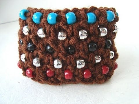 Crochet A Cuff Bracelet Youtube