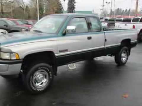 1996 dodge ram 2500 cummins diesel over 40 used diesel trucks portland or youtube. Black Bedroom Furniture Sets. Home Design Ideas