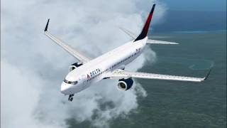 Delta arrives in Punta Cana Airport (FS2004)