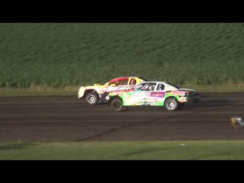 IMCA Stock Car feature Benton County Speedway 6/18/17