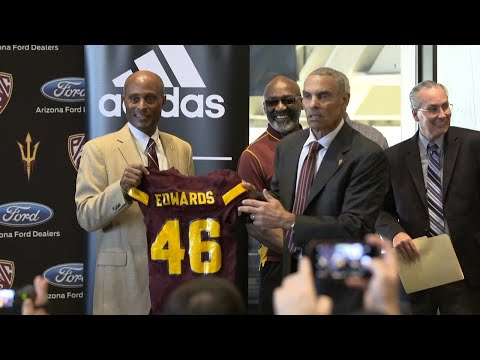 New Arizona State coach Herm Edwards puts passion on display in introductory press conference
