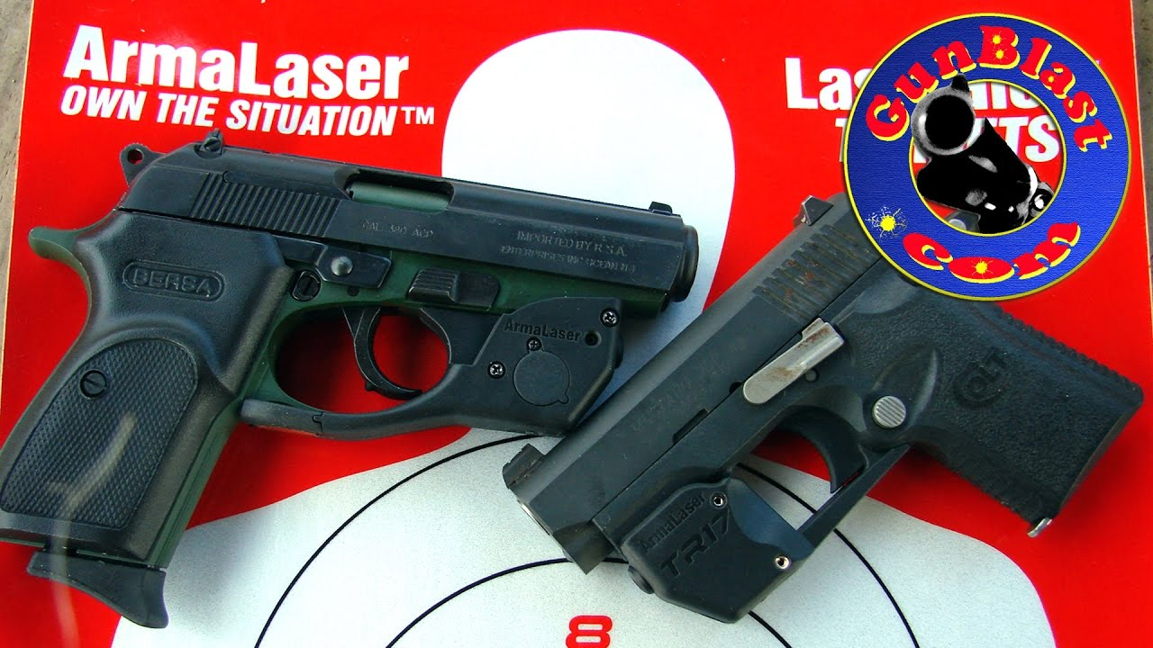 ArmaLaser Laser Sights for the Bersa Thunder 380 and Colt Mustang XSP -  Gunblast com