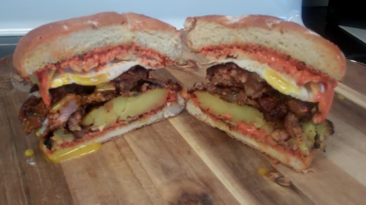 How To Make The Ultimate Breakfast Burger  Spicy Chorizo, Potato, And Egg!