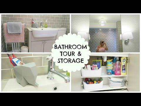 BATHROOM TOUR & STORAGE IDEAS