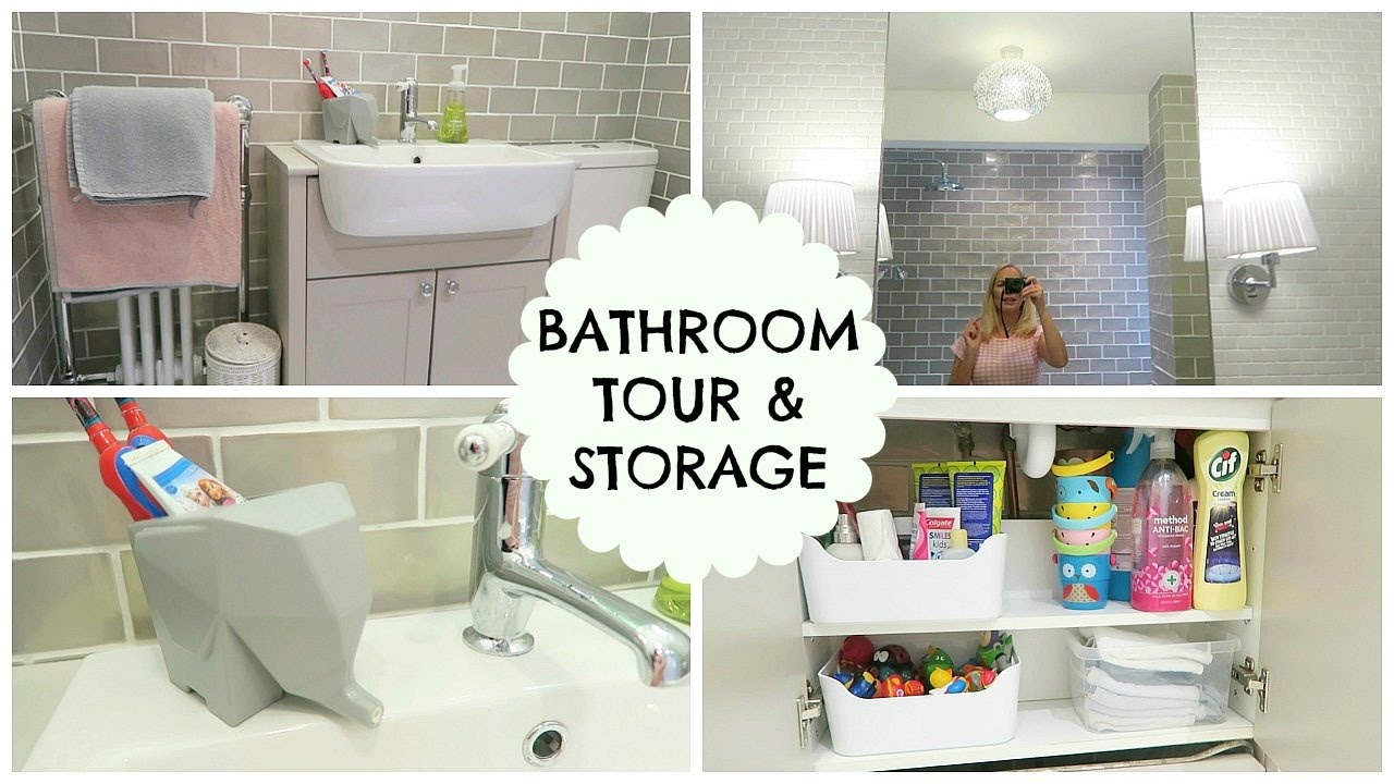 BATHROOM TOUR & STORAGE IDEAS - YouTube