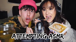 Trying ASMR for the first time! (dont think we did it right)