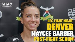UFC Denver: Maycee Barber Didn't Ask — She Told Dana White She Won Fight Night Bonus