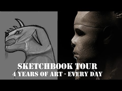 4 Years of Art Every Day - From First Drawings to Now -Sketchbook Tour