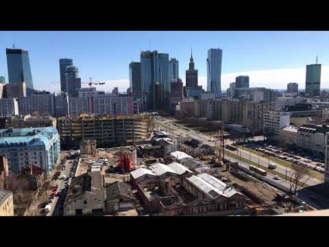 Warsaw Sunny Downtown Underconstruction Timeleapse in 4K by iPhone7plus #LoveToBeMobile