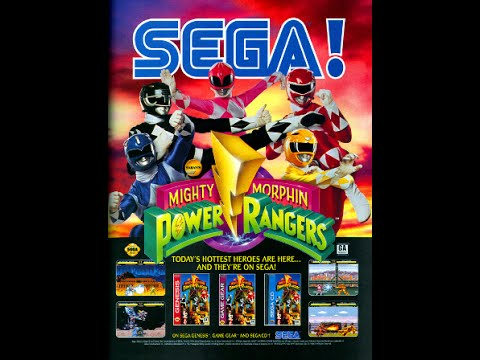 Mighty Morphin Power Rangers (SEGA) - Прохождение!