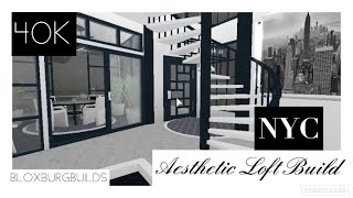 NYC Aesthetic Loft Apartment Build! | Welcome To Bloxburg