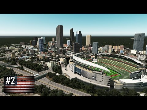 Cities: Skylines - The American Dream #2 - NFL stadium of controversy