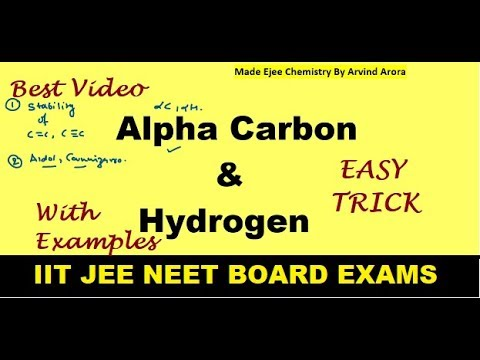 Alpha Hydrogen(Easy trick | Que. & Ans. | Importance of Concept | Application ) By Arvind Arora